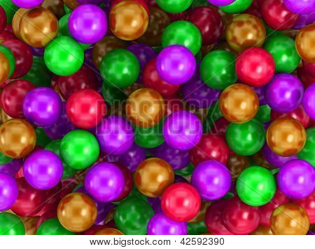 Children's game colorful plastic balls