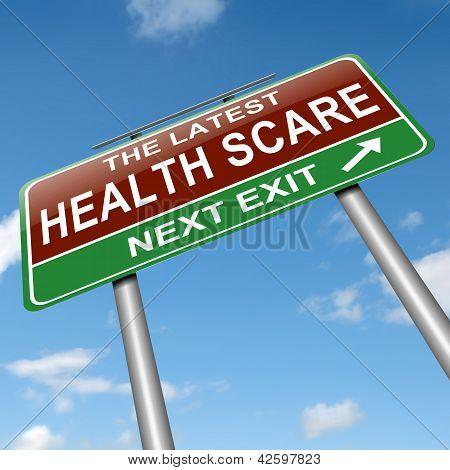 Health-Panikmache-Konzept.