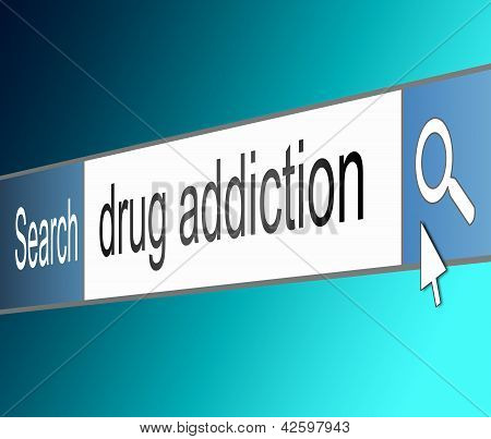Drug Addiction Concept.