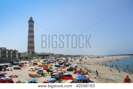 Barra beach and Aveiro lighthouse