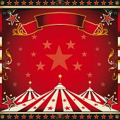 stock photo of school carnival  - Square red vintage circus - JPG