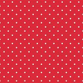 stock photo of ladybug  - Retro seamless vector pattern or texture with white polka dots on red background - JPG
