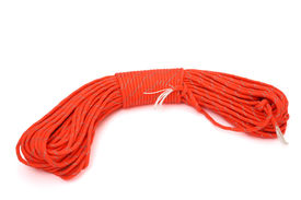 picture of paracord  - red twisted paracord isolated on white background - JPG
