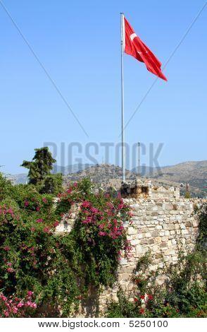 Flag On Castle Of Saint Peter.