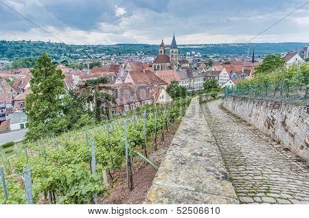Esslingen Am Neckar Views From Burgsteige Near Stuttgart, German