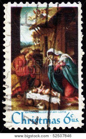 Nativity By Lorenzo Lotto