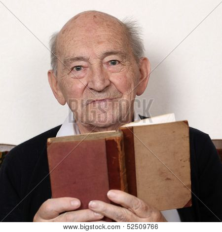 Grandpa Reading Fairy Tales From An Old Book