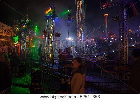 Unidentified people on Putzchen fair