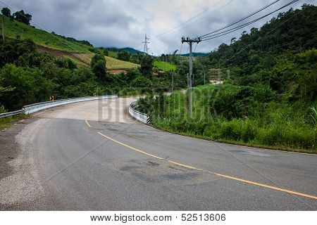road in northern Thailand