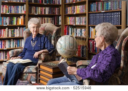 Discussion In The Library Room