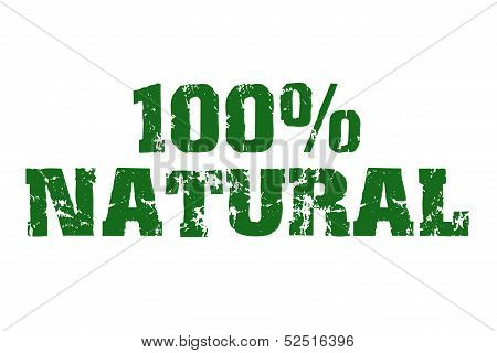 Green natural text