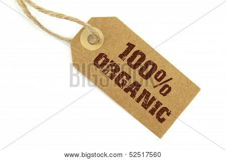 Brown organic label