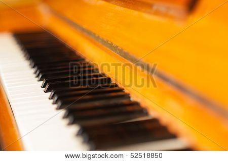 Closeup Of The Piano Keys