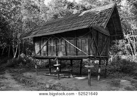 B/W Traditional Wooden Barn