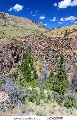 Rugged Mountain Scenery Of Wyoming