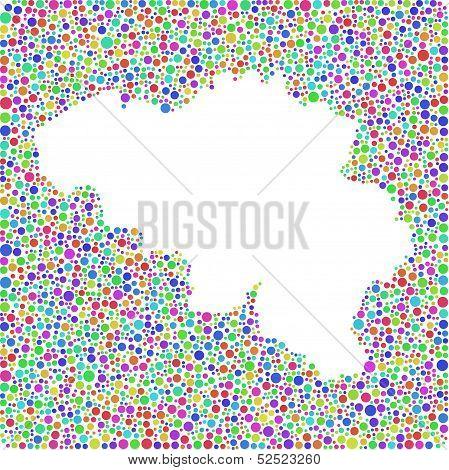 Colored Map of Belgium - Europe -