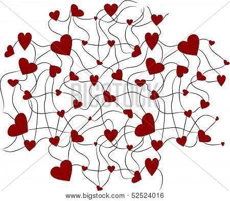 hearts background two