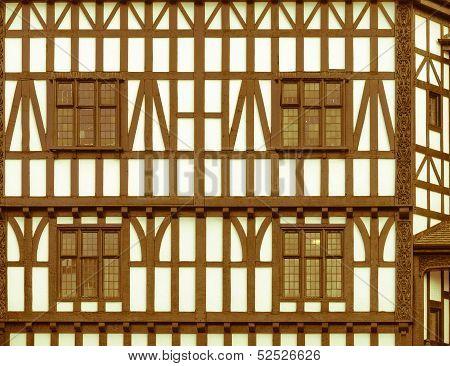 Retro Looking Tudor Building