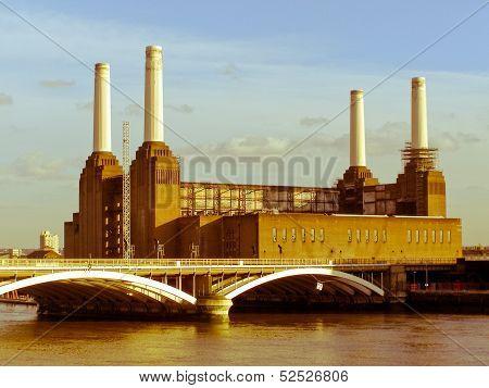 Retro Looking London Battersea Powerstation