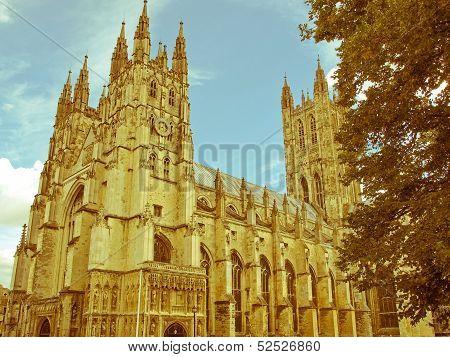 Retro Looking Canterbury Cathedral