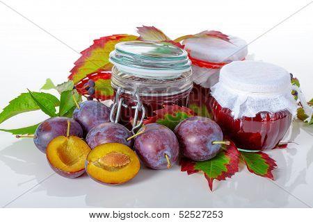 Jars Of Plum Jams