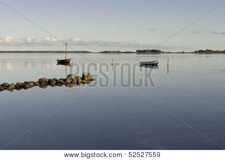 Dinghies At A Danish Coast