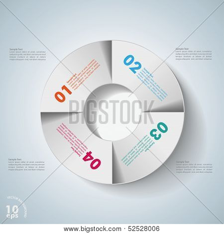 Infographic Design Circle 4 Options