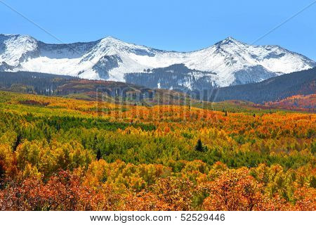 Snow covered mountains at Kebler pass