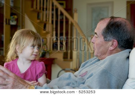 Grandpa And Grandchild
