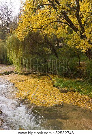 Olkhovka River In Kislovodsk.