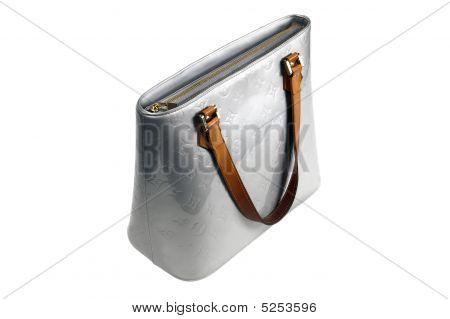 Designer Handbag On White - Logos Removed