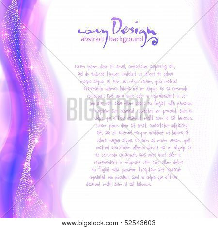 Bright violet background with disco lights