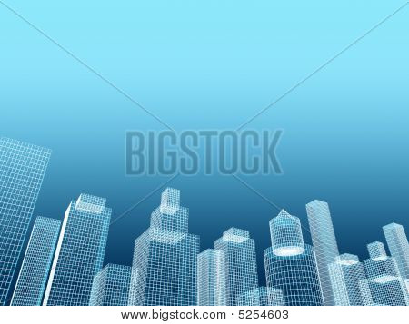 Corporate Building Real Estate Illustration