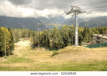 Caucasus. Ropeway