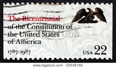 Postage Stamp Usa 1987 Bicentennial Of The Us Constitution