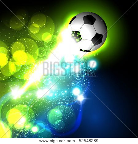 abstract soccer ball, easy all editable