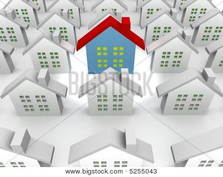 Blue Unique Outstanding 3D Houses