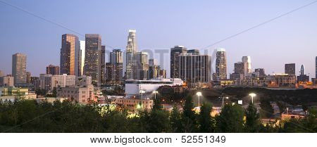 Office Buildings Financial District Los Angeles California Downtown Horizontal