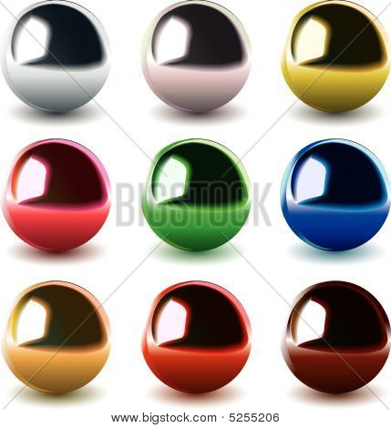 Vector Chrome Balls