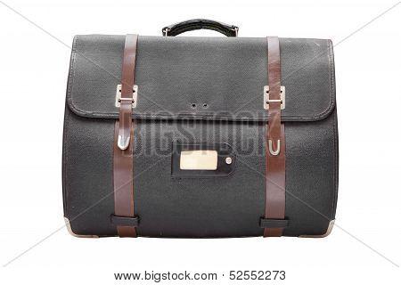 Retro Leather Satchel Bag,isolated On White