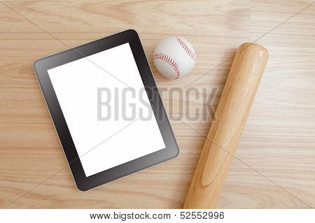 Baseball And Tablet Pc