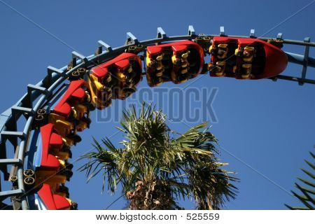 Red Roller Coaster