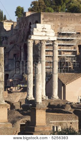 Temple Of Castor And Pollux Forum Rome Italy
