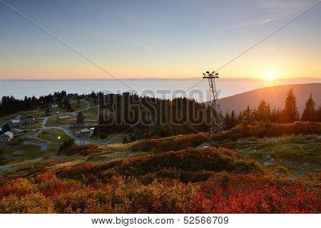 Grouse Mountain Autumn Sunset