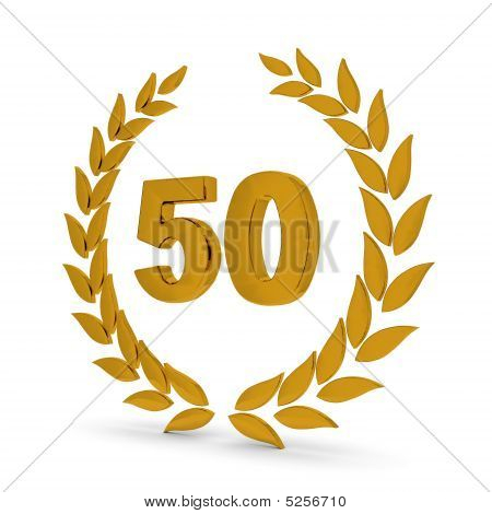 50Th Anniversary Golden Laurel Wreath