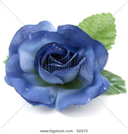 Artificial Blue Rose With Great Detail