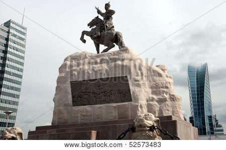 Mongolian parliament statue