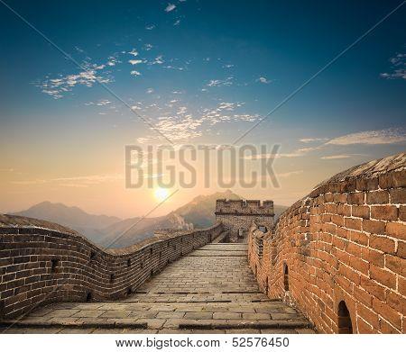 The Great Wall At Dusk