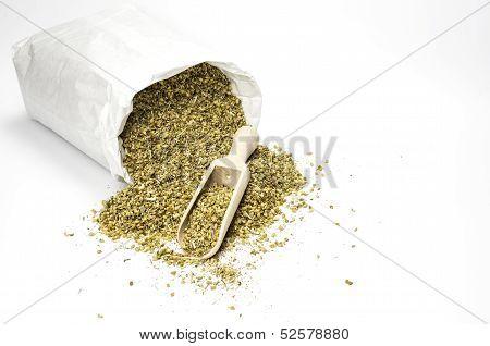 Bag with dried comon yarrow