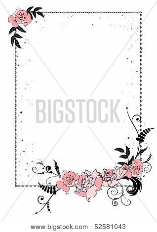 Floral Frame With Chain